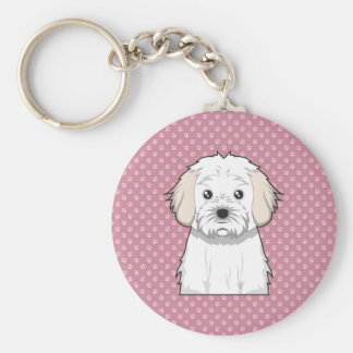 Cavachon Cartoon Key Ring