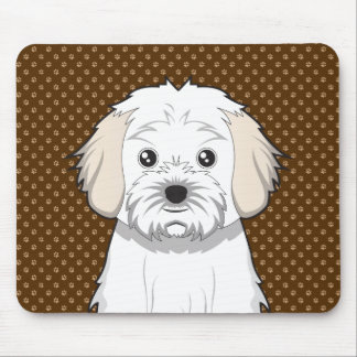 Cavachon Dog Cartoon Paws Mousepad
