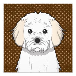Cavachon Dog Cartoon Paws Photo Print