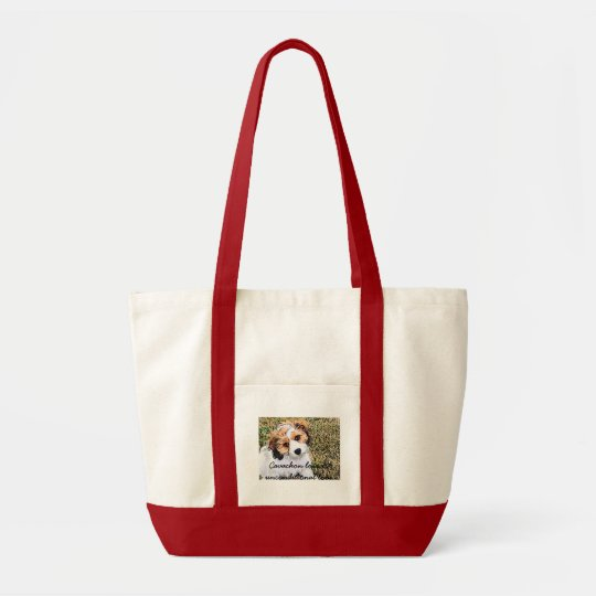Cavachon love tote bag