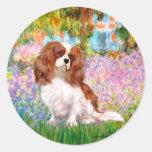 Cavalier 2 (Bl) - Garden (M) Classic Round Sticker