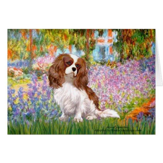 Cavalier 2 (Bl) - Garden (M) Greeting Card