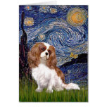 Cavalier 2 (Bl) - Starry Night Greeting Card