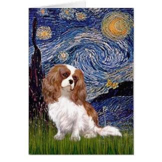 Cavalier 2 (Bl) - Starry Night Greeting Card