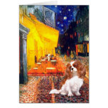 Cavalier 2 (Bl) - Terrace Cafe Greeting Card