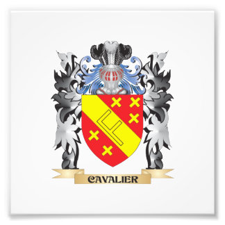 Cavalier Coat of Arms - Family Crest Photograph