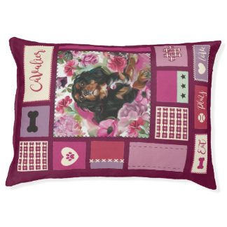 Cavalier DOG BED mauve pink