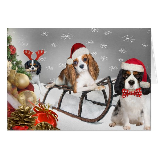 Cavalier Have A Yappy Christmas Cards
