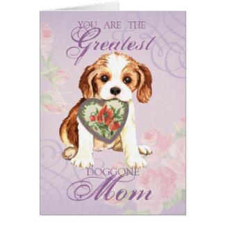 Cavalier Heart Mom Greeting Card