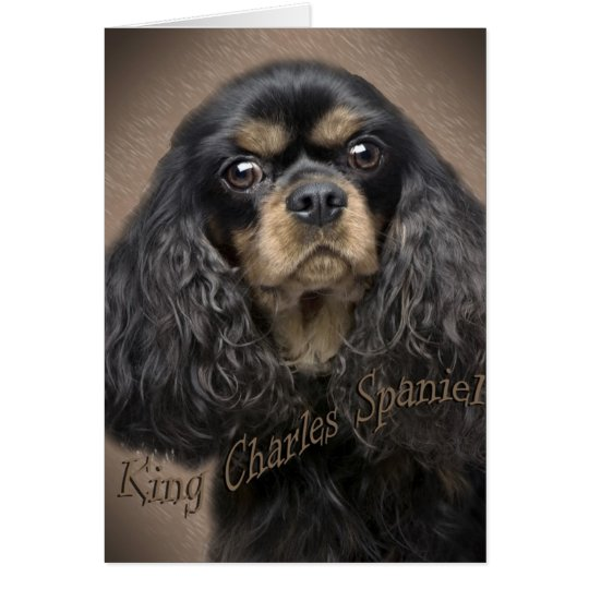 Cavalier King Charles Autumn and Friends Card