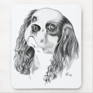 Cavalier King Charles Drawing Mouse Mat