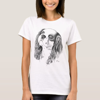 Cavalier King Charles Drawing T-Shirt