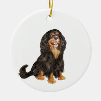 Cavalier King Charles (R) - Black and tan.png Christmas Ornament