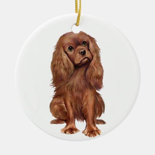 Cavalier King Charles - Ruby Christmas Ornament