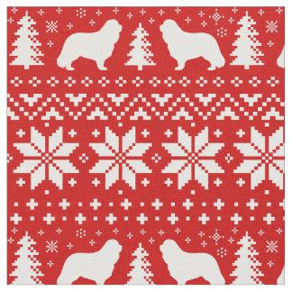 Cavalier King Charles Silhouettes Christmas Fabric