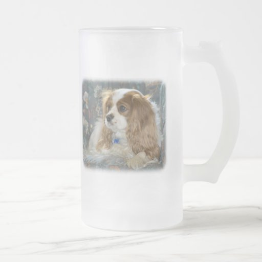 Cavalier King Charles Spaniel 8R16D-01 16 Oz Frosted Glass Beer Mug