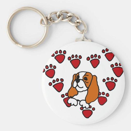 Cavalier King Charles Spaniel and Heart Art Basic