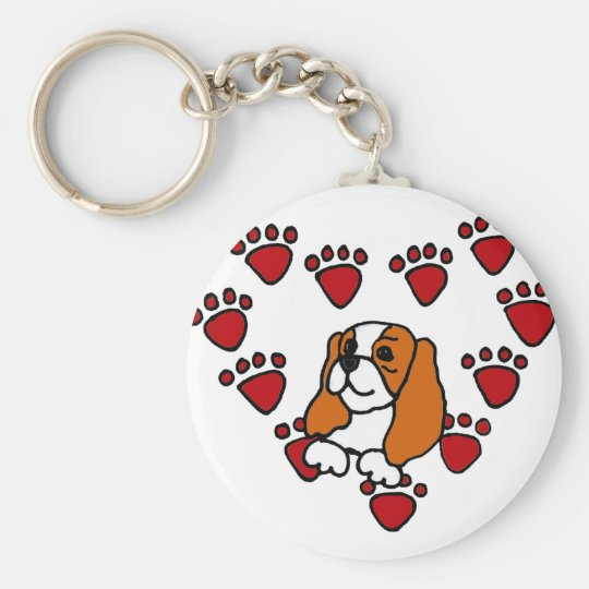 Cavalier King Charles Spaniel and Heart Art Key
