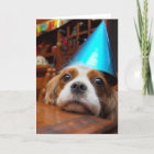Cavalier King Charles Spaniel Birthday Card