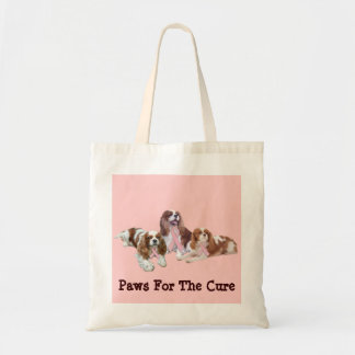 Cavalier King Charles Spaniel Breast Cancer Bag