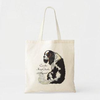 cavalier king charles spaniel budget tote bag