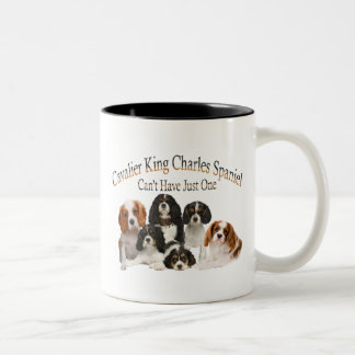 Cavalier King Charles Spaniel Can't Have Just One Two-Tone Coffee Mug