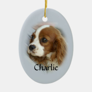 Cavalier King Charles Spaniel Ceramic Oval Decoration