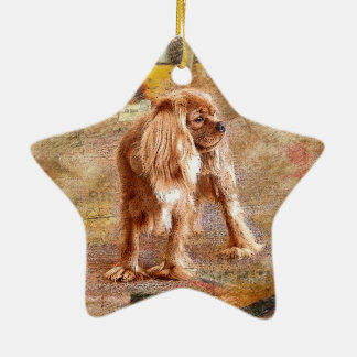 Cavalier King Charles Spaniel Ceramic Star Decoration