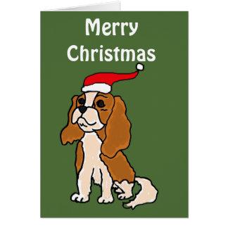 Cavalier King Charles Spaniel Christmas Art Greeting Card