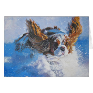 Cavalier King Charles Spaniel Christmas Card