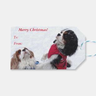 Cavalier King Charles Spaniel Christmas Gift Tags