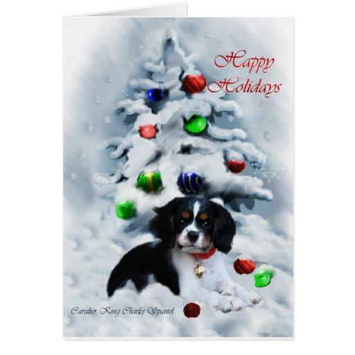 Cavalier King Charles Spaniel  Christmas Gifts Greeting Card