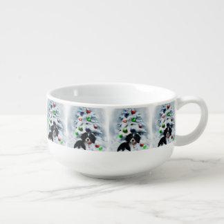 Cavalier King Charles Spaniel Christmas Soup Mug