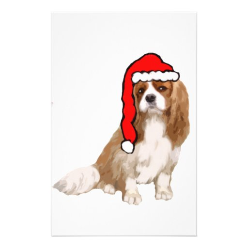Cavalier King Charles Spaniel Christmas Personalized Stationery