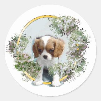 Cavalier King Charles Spaniel Classic Round Sticker