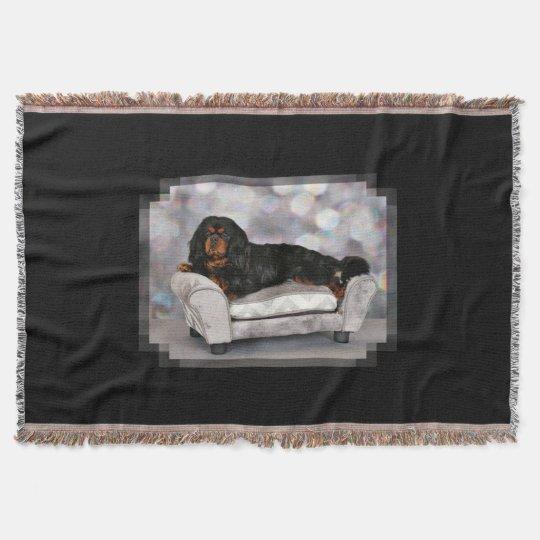 Cavalier King Charles Spaniel - Cornelius Throw Blanket