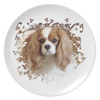 Cavalier King Charles Spaniel Dinner Plates
