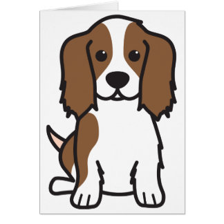 Cavalier King Charles Spaniel Dog Cartoon Greeting Card