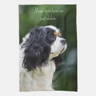 Cavalier King Charles Spaniel dog lovers custom Kitchen Towels