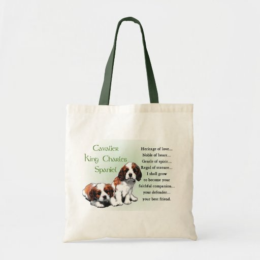 Cavalier King Charles Spaniel Gifts Canvas Bags