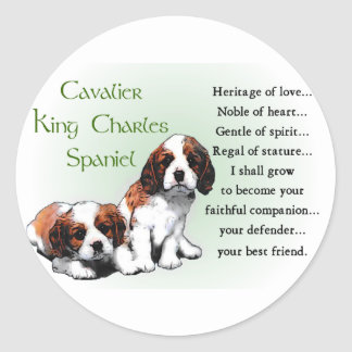 Cavalier King Charles Spaniel Gifts Classic Round Sticker