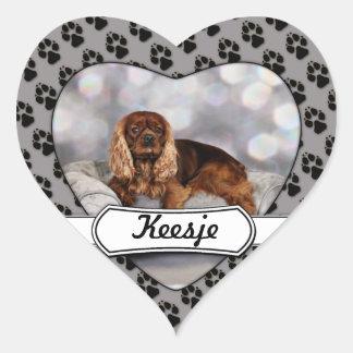 Cavalier King Charles Spaniel - Keesje Heart Sticker
