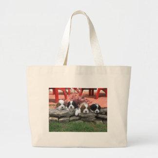 Cavalier King Charles Spaniel Litter Jumbo Tote Bag