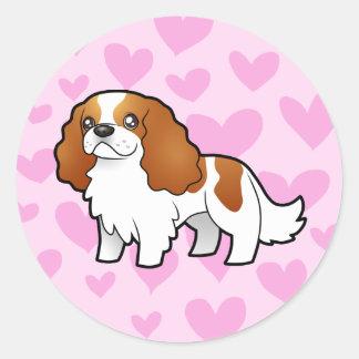 Cavalier King Charles Spaniel Love Classic Round Sticker