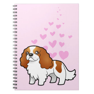 Cavalier King Charles Spaniel Love Spiral Note Book