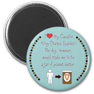 Cavalier King Charles Spaniel Loves Peanut Butter Refrigerator Magnet