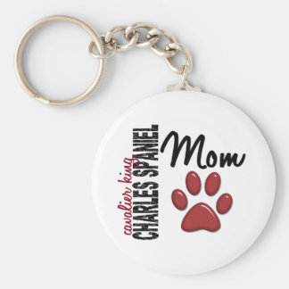 Cavalier King Charles Spaniel Mom 2 Key Ring