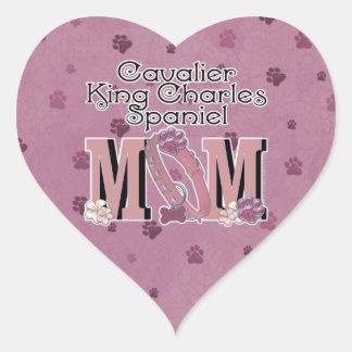 Cavalier King Charles Spaniel MOM Heart Sticker