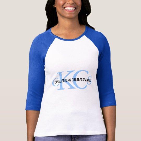Cavalier King Charles Spaniel Monogram Design T-Shirt