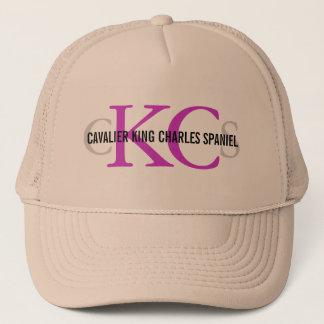 Cavalier King Charles Spaniel Monogram Design Trucker Hat